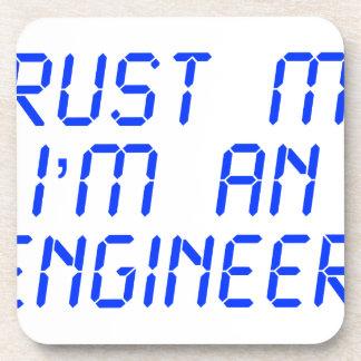 trust-me-Im-an-engineer-LCD-BLUE png Posavasos De Bebida