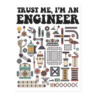 Trust me, I'm an engineer Postcard