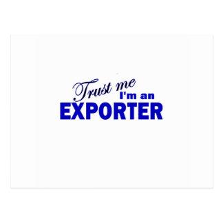 Trust Me I'm an Exporter Postcard