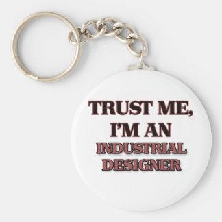 Trust Me I'm an Industrial Designer Basic Round Button Keychain