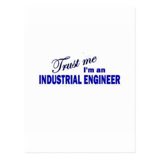 Trust Me I'm an industrial Engineer Postcard