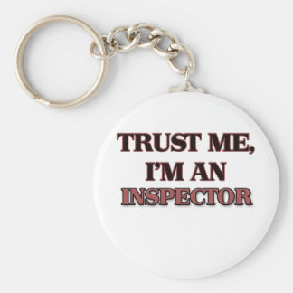 Trust Me I'm an Inspector Basic Round Button Keychain