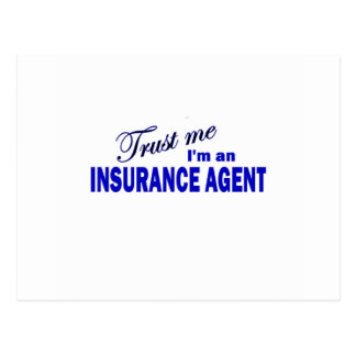 Trust Me I'm an Insurance Agent Postcard