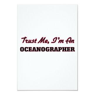 Trust me I'm an Oceanographer 3.5x5 Paper Invitation Card