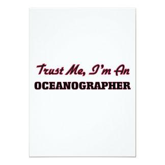 Trust me I'm an Oceanographer 5x7 Paper Invitation Card