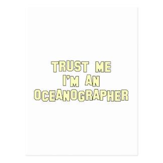 Trust Me I'm an Oceanographer Postcard