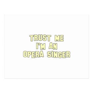 Trust Me I'm an Opera Singer Postcard