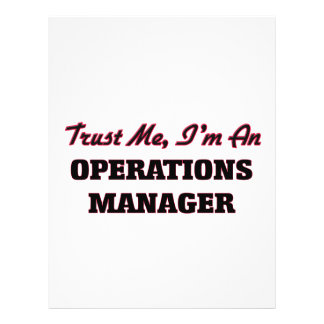 Trust me I'm an Operations Manager Full Color Flyer