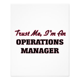 Trust me I'm an Operations Manager Flyers