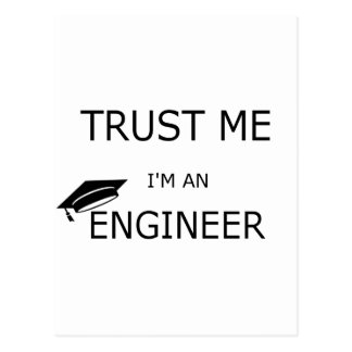 Trust me I'm an to engineer (inclined mortarboard) Postcard