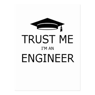 Trust me I'm an to engineer (mortarboard) .pdf Postcard