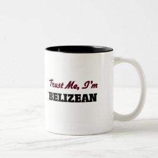 Trust me I'm Belizean Two-Tone Coffee Mug