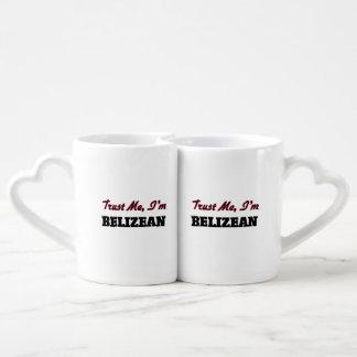 Trust me I'm Belizean Couples' Coffee Mug Set