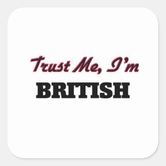 Trust me I'm British Stickers
