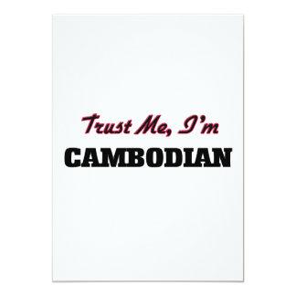 Trust me I'm Cambodian 5x7 Paper Invitation Card
