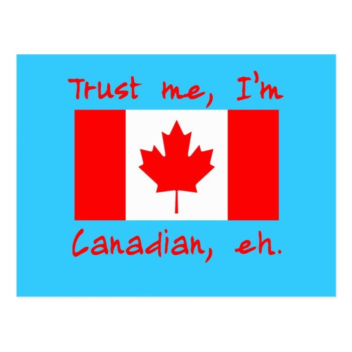 Trust Me I'm Canadian Products Postcard