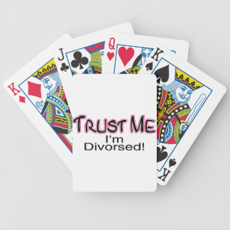 Trust Me I'm Divorced (pink) Bicycle Playing Cards