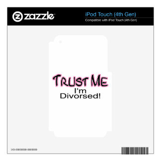 Trust Me I'm Divorced (pink) Decal For iPod Touch 4G