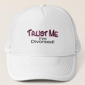 Trust Me I'm Divorced (pink) Trucker Hat