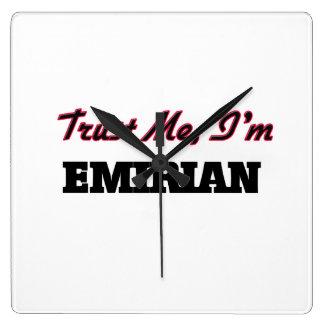 Trust me I'm Emirian Square Wallclocks