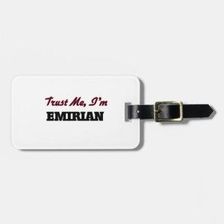 Trust me I'm Emirian Travel Bag Tag