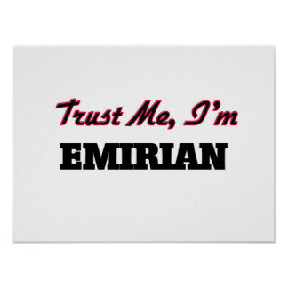 Trust me I'm Emirian Print