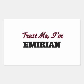 Trust me I'm Emirian Rectangular Stickers