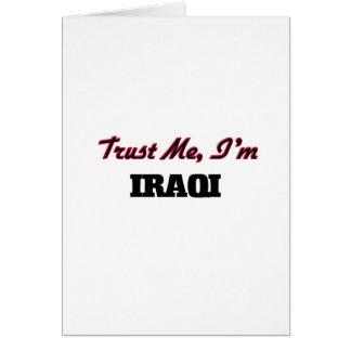 Trust me I'm Iraqi Greeting Card