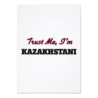 Trust me I'm Kazakhstani 5x7 Paper Invitation Card