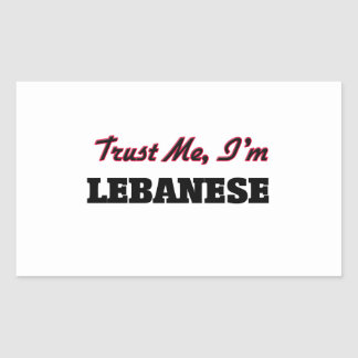 Trust me I'm Lebanese Rectangular Sticker