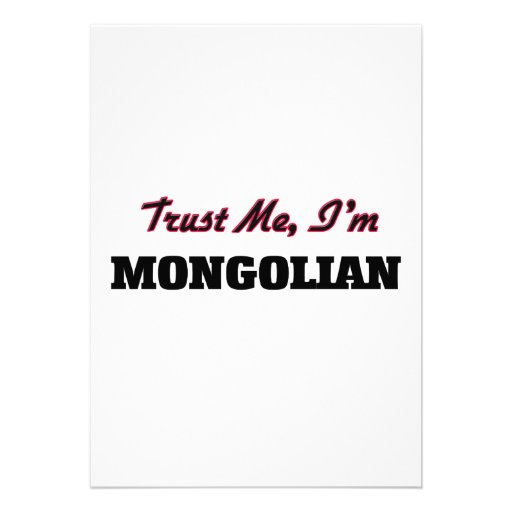 Trust me I'm Mongolian Personalized Announcement