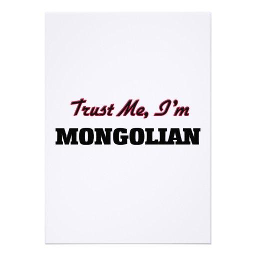 Trust me I'm Mongolian Personalized Invitation