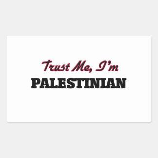 Trust me I'm Palestinian Rectangular Sticker
