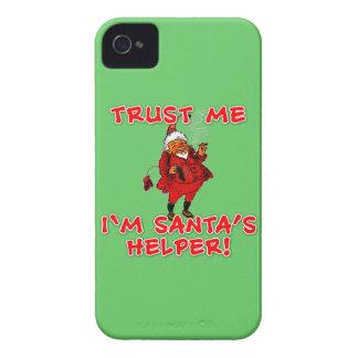 Trust Me I'm Santa's Helper Funny Tshirt iPhone 4 Case
