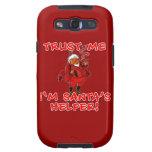 Trust Me I'm Santa's Helper Funny Tshirt Galaxy SIII Cases