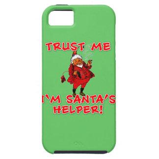 Trust Me I'm Santa's Helper Funny Tshirt iPhone 5 Cases