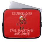 Trust Me I'm Santa's Helper Funny Tshirt Laptop Sleeve