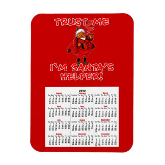 Trust Me I'm Santa's Helper Funny Tshirt Magnet