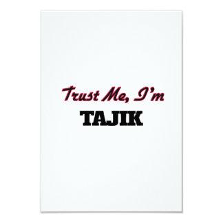 Trust me I'm Tajik 3.5x5 Paper Invitation Card