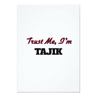 Trust me I'm Tajik 5x7 Paper Invitation Card