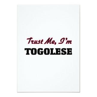 Trust me I'm Togolese 5x7 Paper Invitation Card