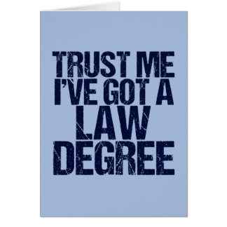 Trust Me Lawyer Card