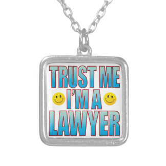 Trust Me Lawyer Life B Silver Plated Necklace