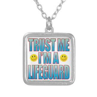 Trust Me Lifeguard Life B Silver Plated Necklace