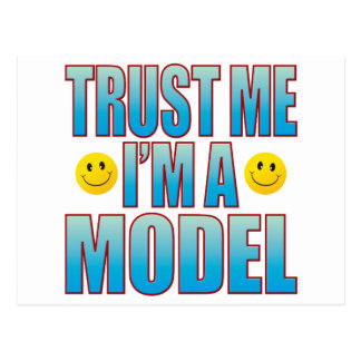 Trust Me Model Life B Postcard