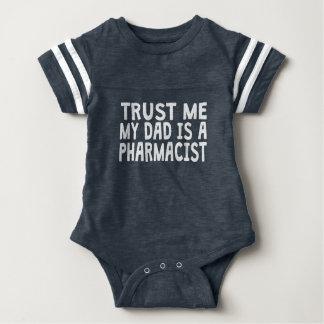 Trust Me My Dad Is A Pharmacist Baby Bodysuit