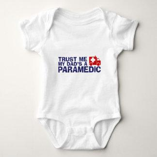 Trust Me My Dad's A Paramedic Baby Bodysuit
