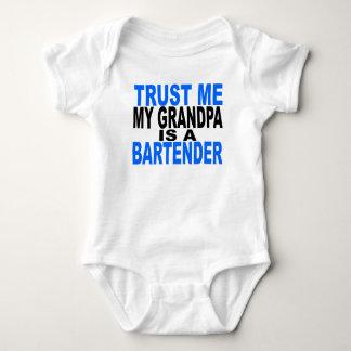 Trust Me My Grandpa Is A Bartender Baby Bodysuit