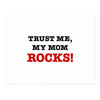 Trust Me, My Mom Rocks Postcard