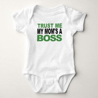 Trust Me My Mom's A Boss Baby Bodysuit